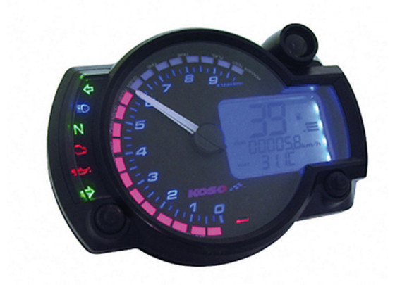 KOSO Digital Multifunction Cockpit RX2N with 6 Indicator lights