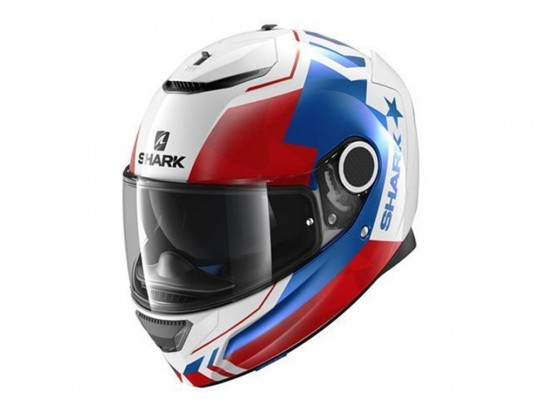 Shark Spartan Droze Full Face Helmet (white / blue / red)