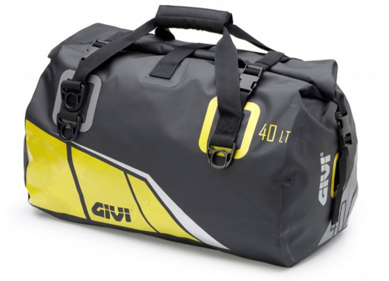 GIVI Easy Bag Waterproof Luggage Roll with Carrying Strap (40 Liter | black / yellow)