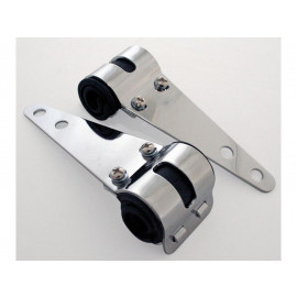 P&W Headlight Bracket Universal (Pair) 30-38mm (chrome)