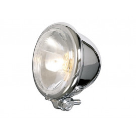 P&W Headlight Bates-Style 4 1/2 Inch with Bilux Bulb (chrome)