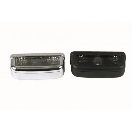 P&W License Plate Light oval (chrome)