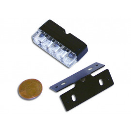 Mini-LED-license plate light, black body, E-mark