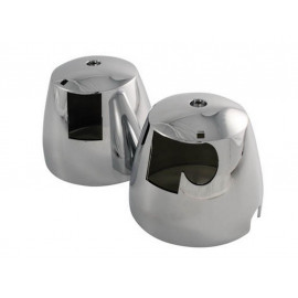 P&W Lower Housing for original Speedometer + RPM Counter (Pair) Kawasaki ZR 550 / 750 (chrome)