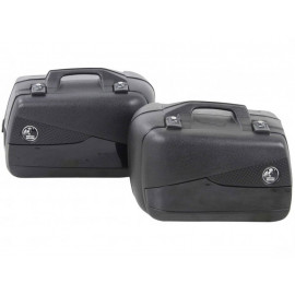 Hepco & Becker Junior Flash 40 Motorcycle Side Pannier Set (black)