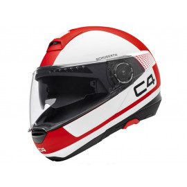 Schuberth C4 Legacy Red Flip-Up Helmet (white/red)