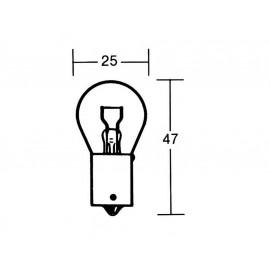 P&W Light Bulb12V-21W BAU 15S (yellow)