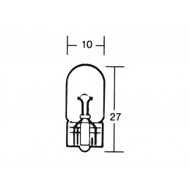 P&W Light Bulb 12V 3W W2 1x9 5D