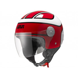 GIVI 10.7 Mini Jet Helmet (red/white)