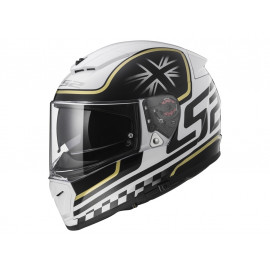 LS2 FF390 Breaker Full Face Helmet (black/white)