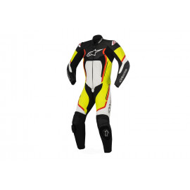 Alpinestars Motegi V2 2tlg Leather Suit Men (black / white / red / neonyellow)
