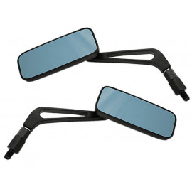 Shin Yo Square Motorcycle Mirror Set (black) Yamaha