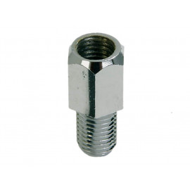 P&W Adapter for Mirror (chrome) M10 (Hole right-hand thread) to M8 (Bolt left-hand thread)