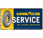 Nostalgic Arts Goodyear Service Metal Sign (25x50cm)